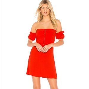 NWT Flynn Skye Luna Mini Red Dress